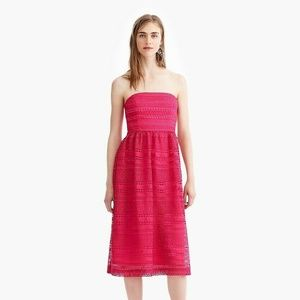 J.Crew Strapless Dress In Mixed Lace Size 8 NWT